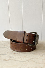 1970s Rugged Leather Belt | S/M