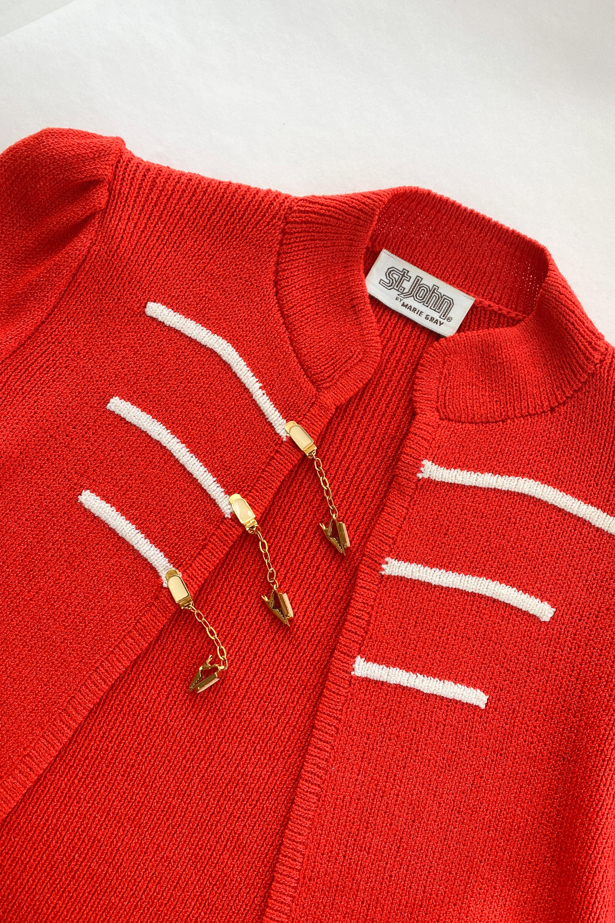 1970s St. John Knit Sergeant Sweater