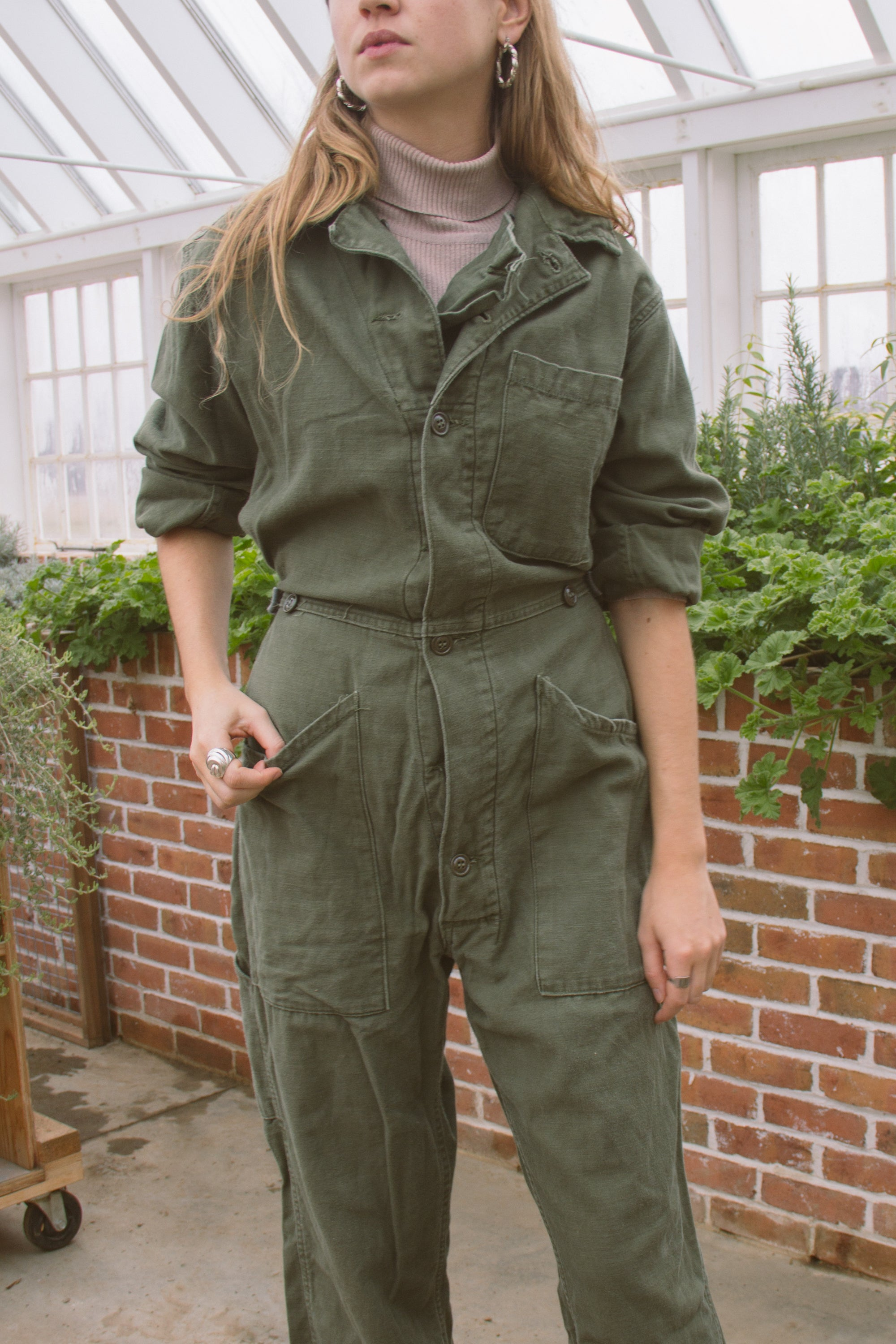 1970s Army Issued Cotton Coveralls