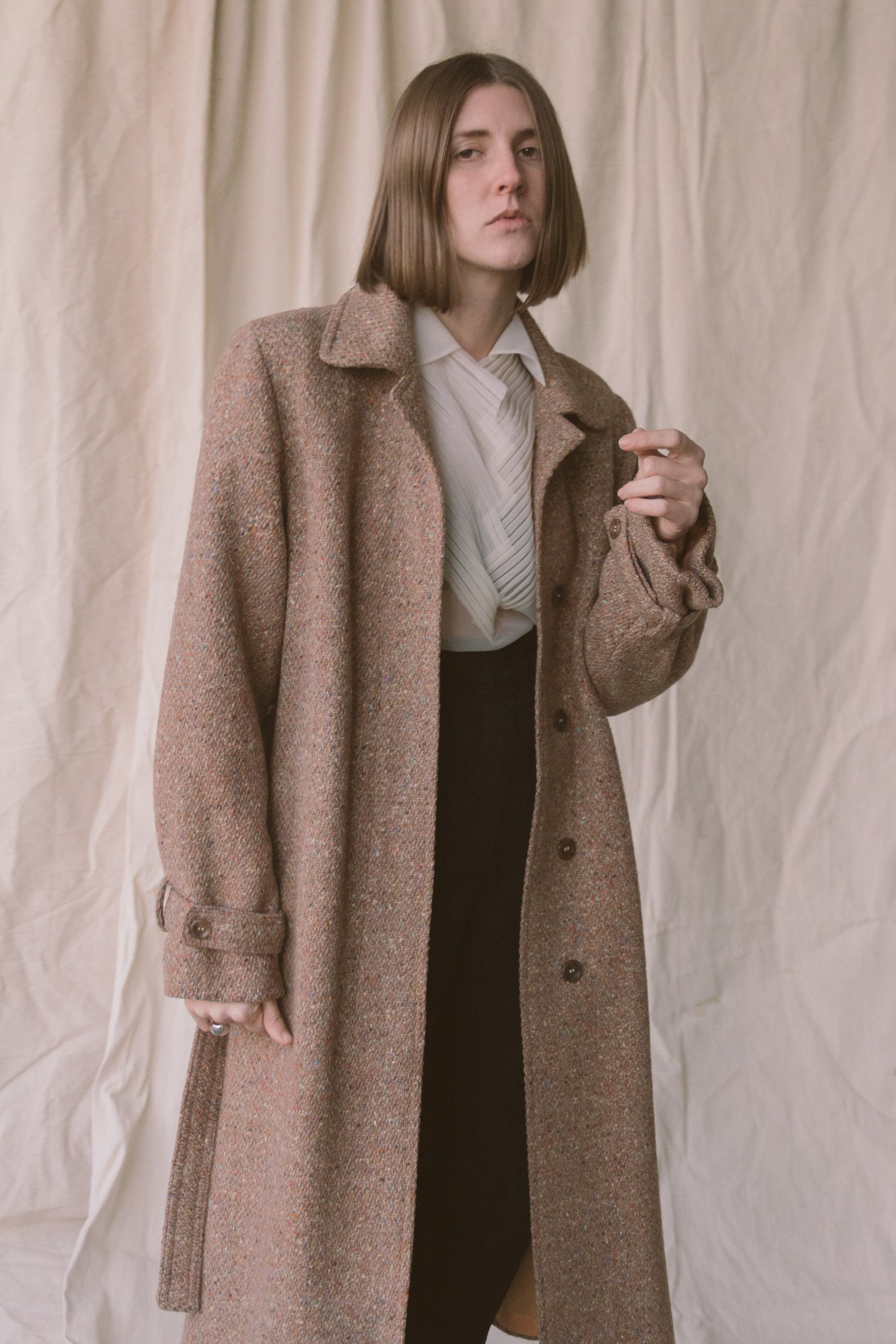 1970s Hourihan Wool Cape Trench