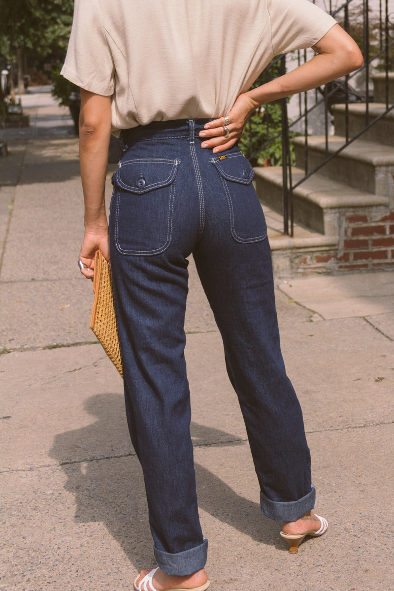 1970s Deadstock Dark Denim Carpenters