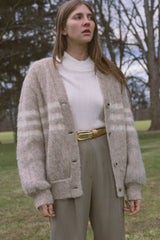 1970s Mohair Striped Cardigan