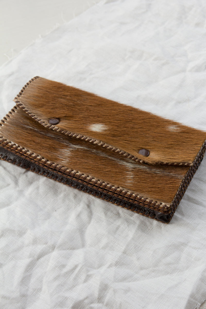 1970s Pony Fur Clutch Wallet