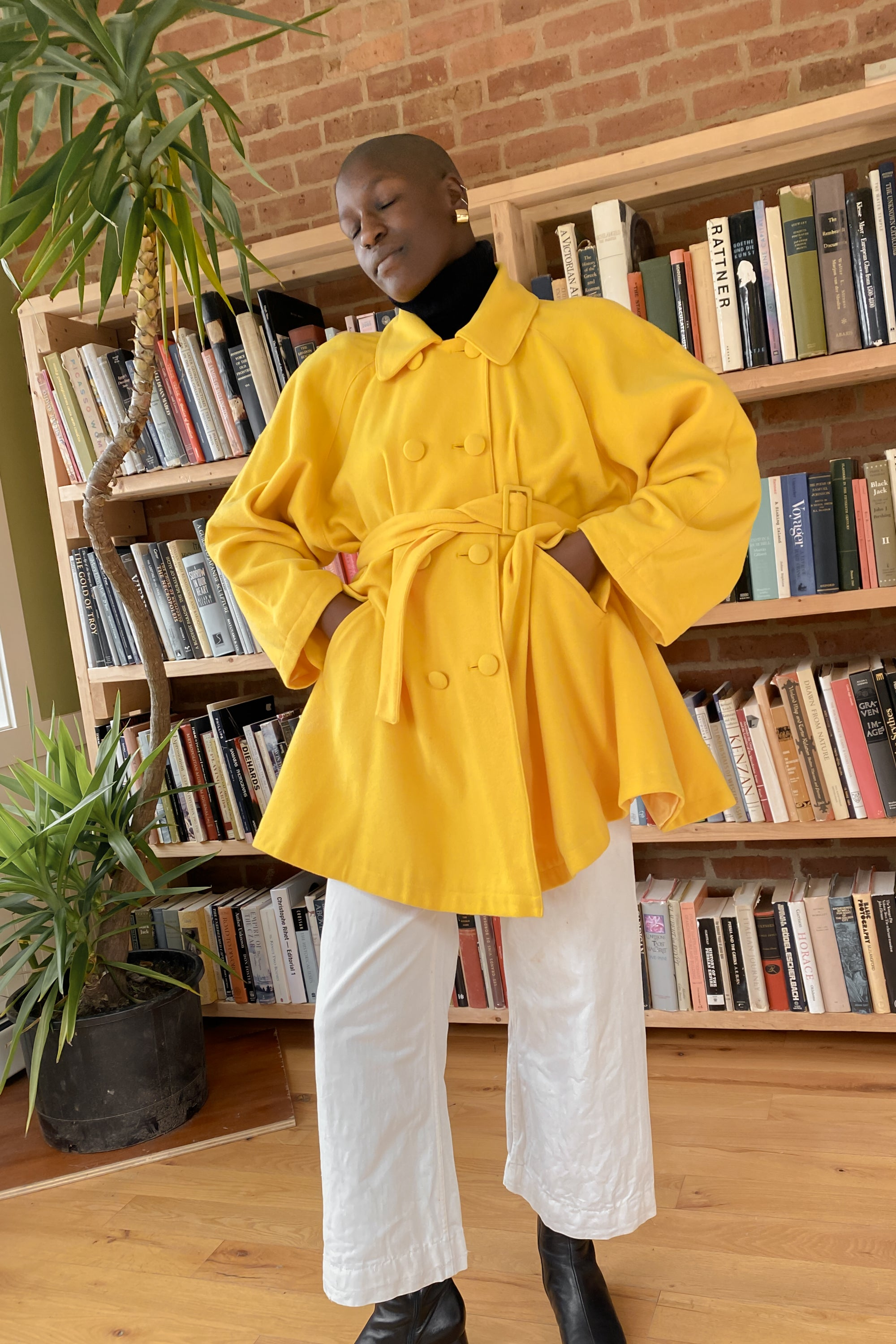 1980s Benetton Lemon Swing Coat