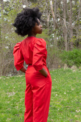 1980s Betsy's Cherry Cotton Jumpsuit