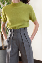 1980s Italian Wool Paper Bag Trousers | sz 2