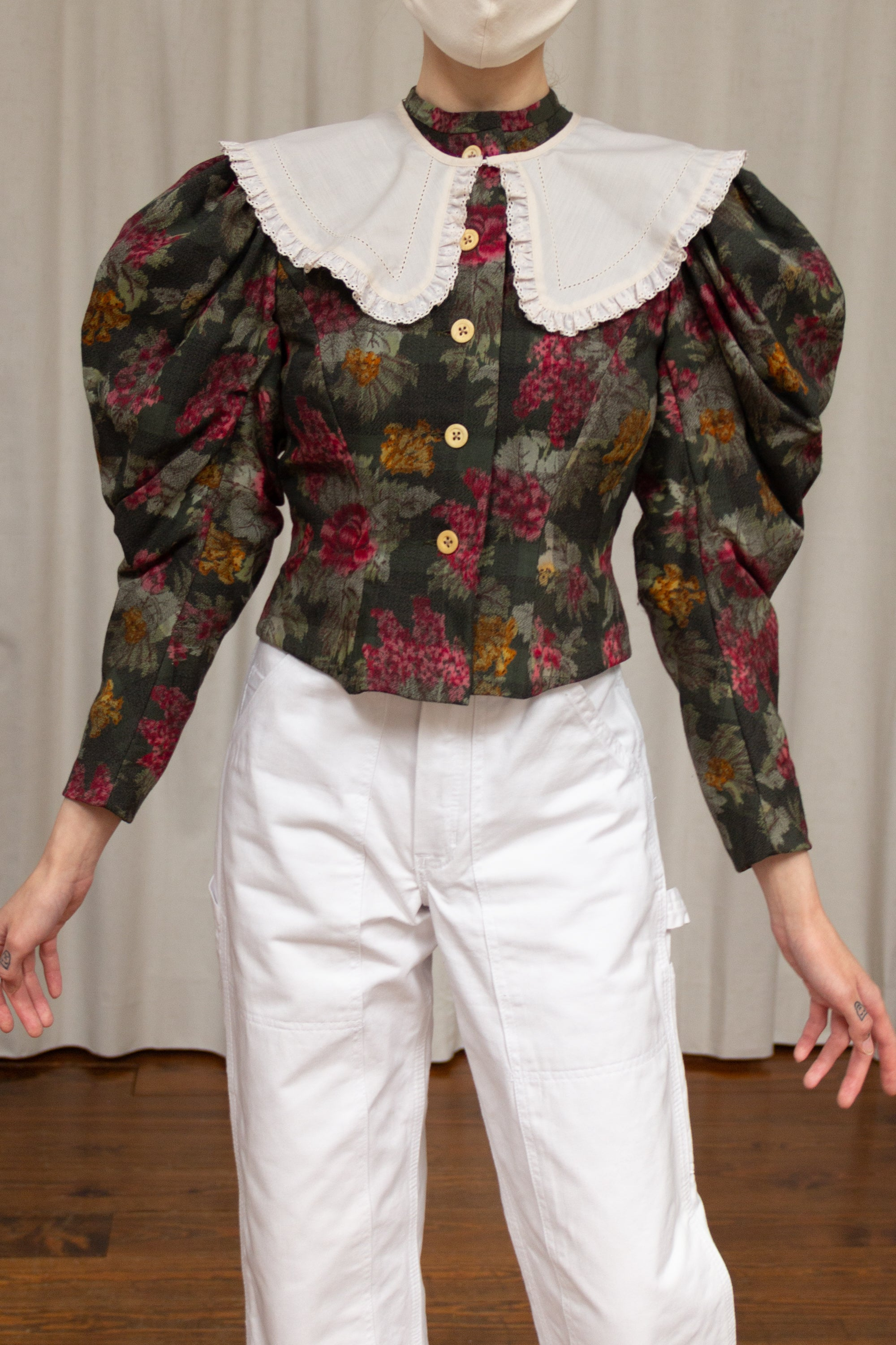 1970s Mutton Sleeve Tapestry Jacket