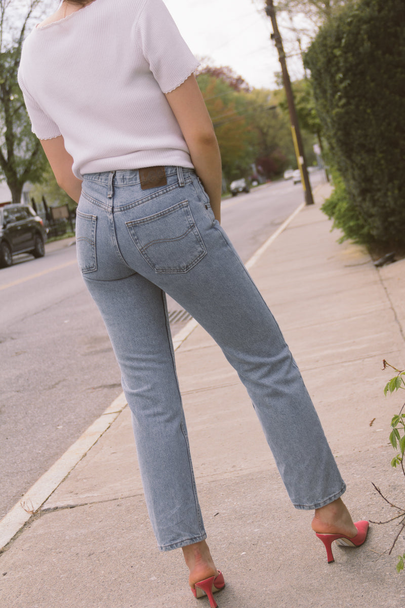 1990s Lee Mid Rise Straight Jeans | sz 28