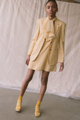 1990s Benetton Linen Dress + Jacket Set