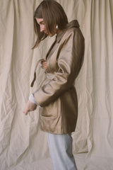 1990s Bronze Leather Trench Jacket