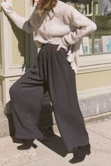1990s Eileen Fisher Wool Wide Leg Pants