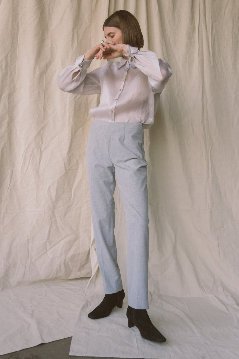 1990s Dove Gray Streamline Trousers | sz 4