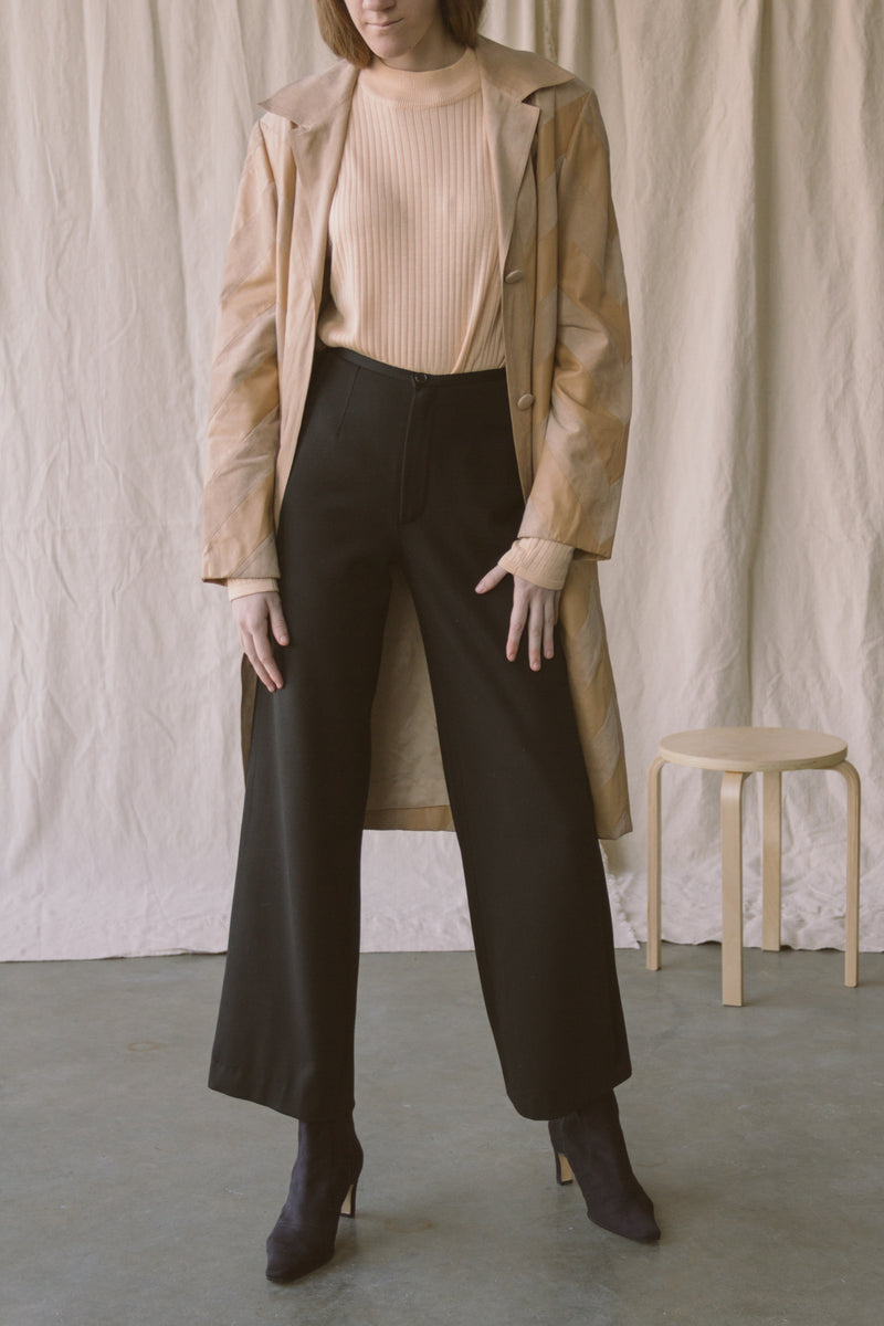 1990s Minimal Wide Leg Trousers | sz 25