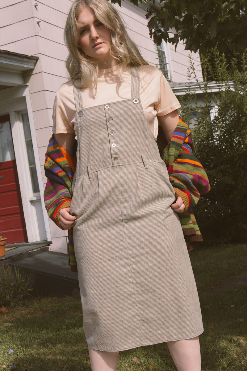 1990s Railroad Cotton Farm Dress