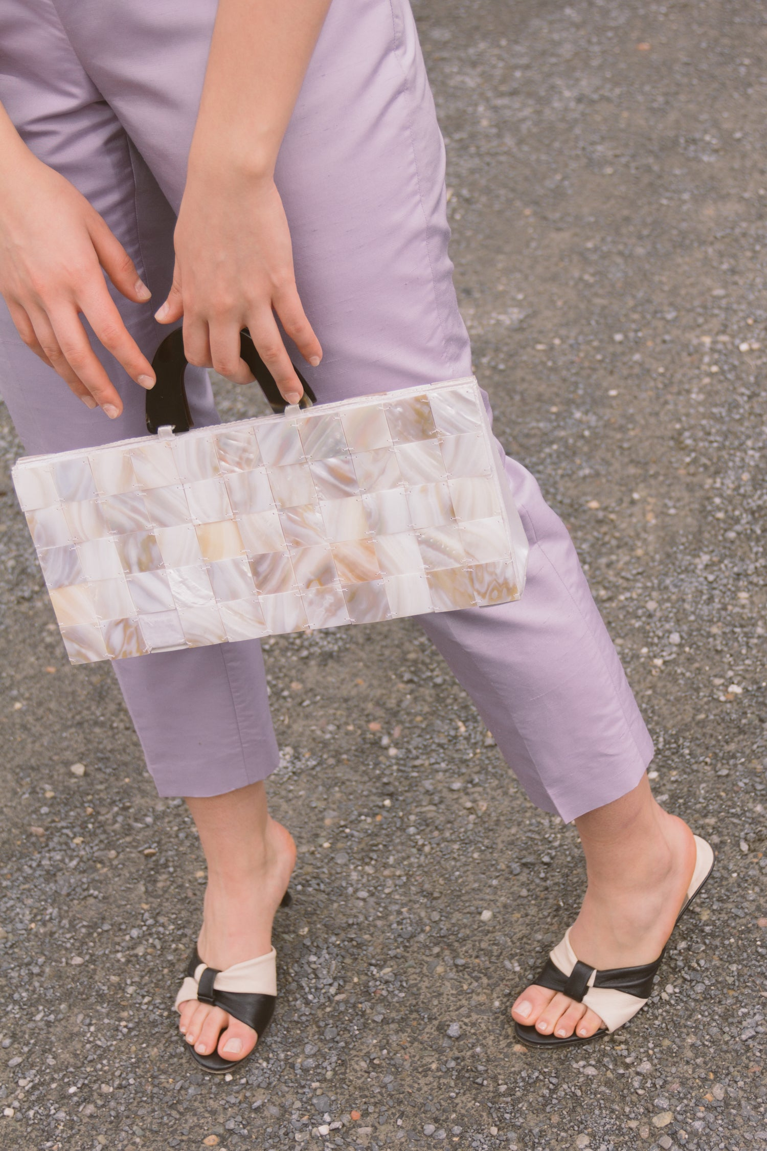 1990s XL Abalone Shell Tile Bag