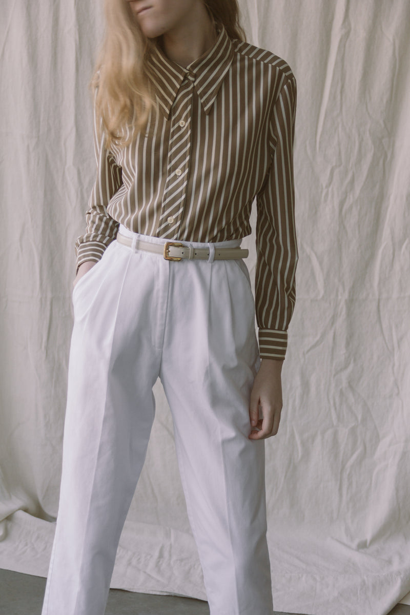 1990s Cotton Pleated Pants | sz 2/4