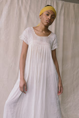 Antique Edwardian Cotton Viole Dress
