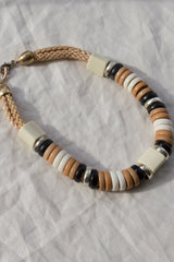 Beaded Disc Rope Necklace