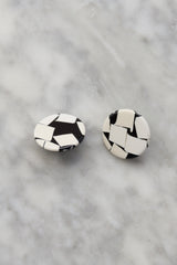 1980s Graphic Stud Earrings