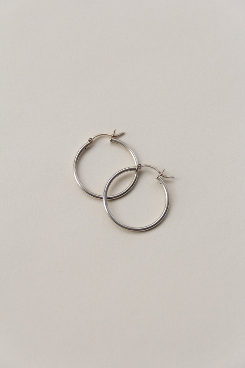 Classic Sterling Hoops