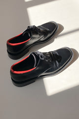Gucci Black Leather Oxfords | 40