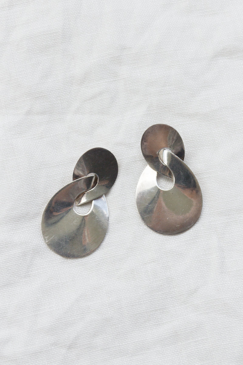Vintage Sterling Figure 8 Earrings