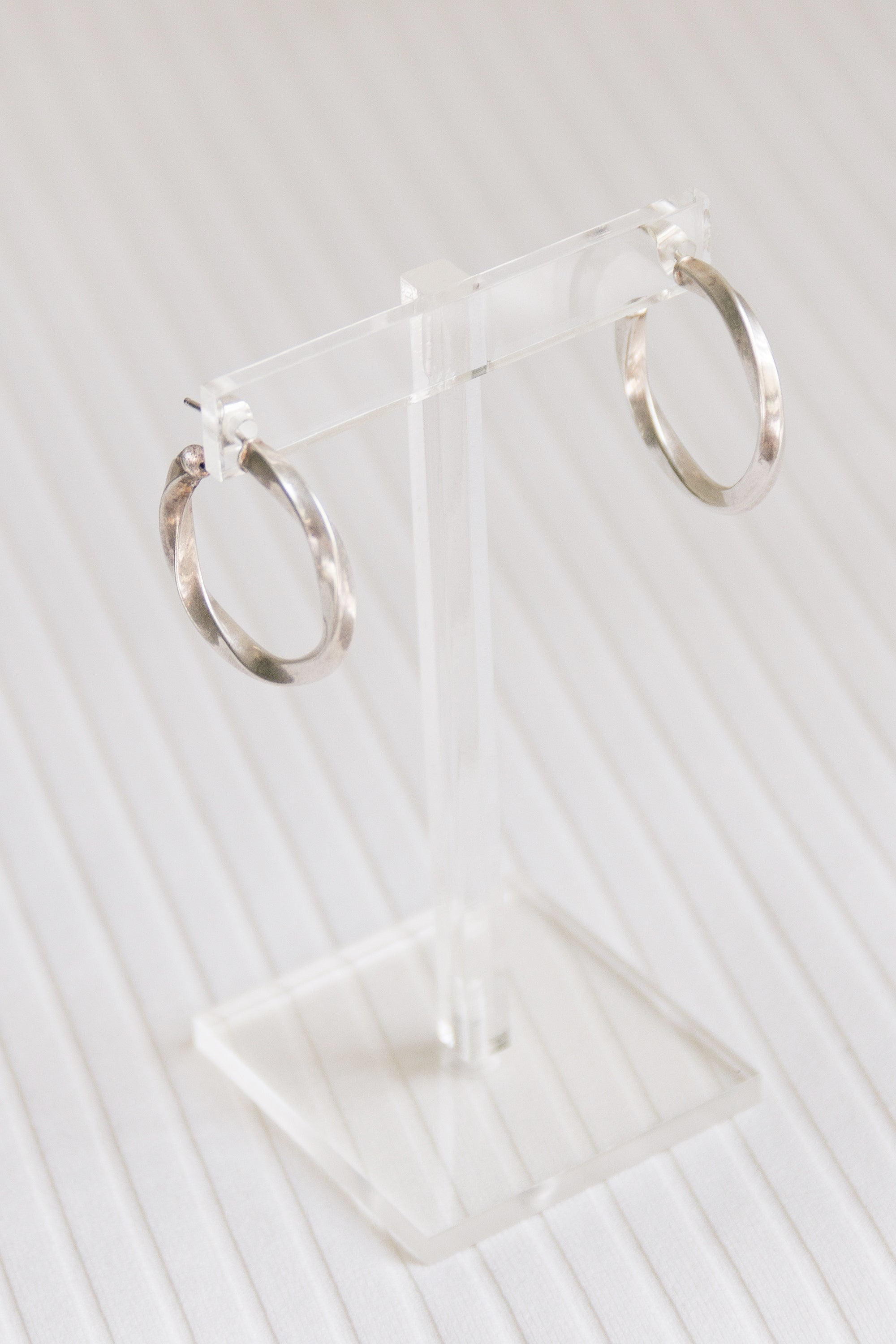 Sterling Twisted Hoops