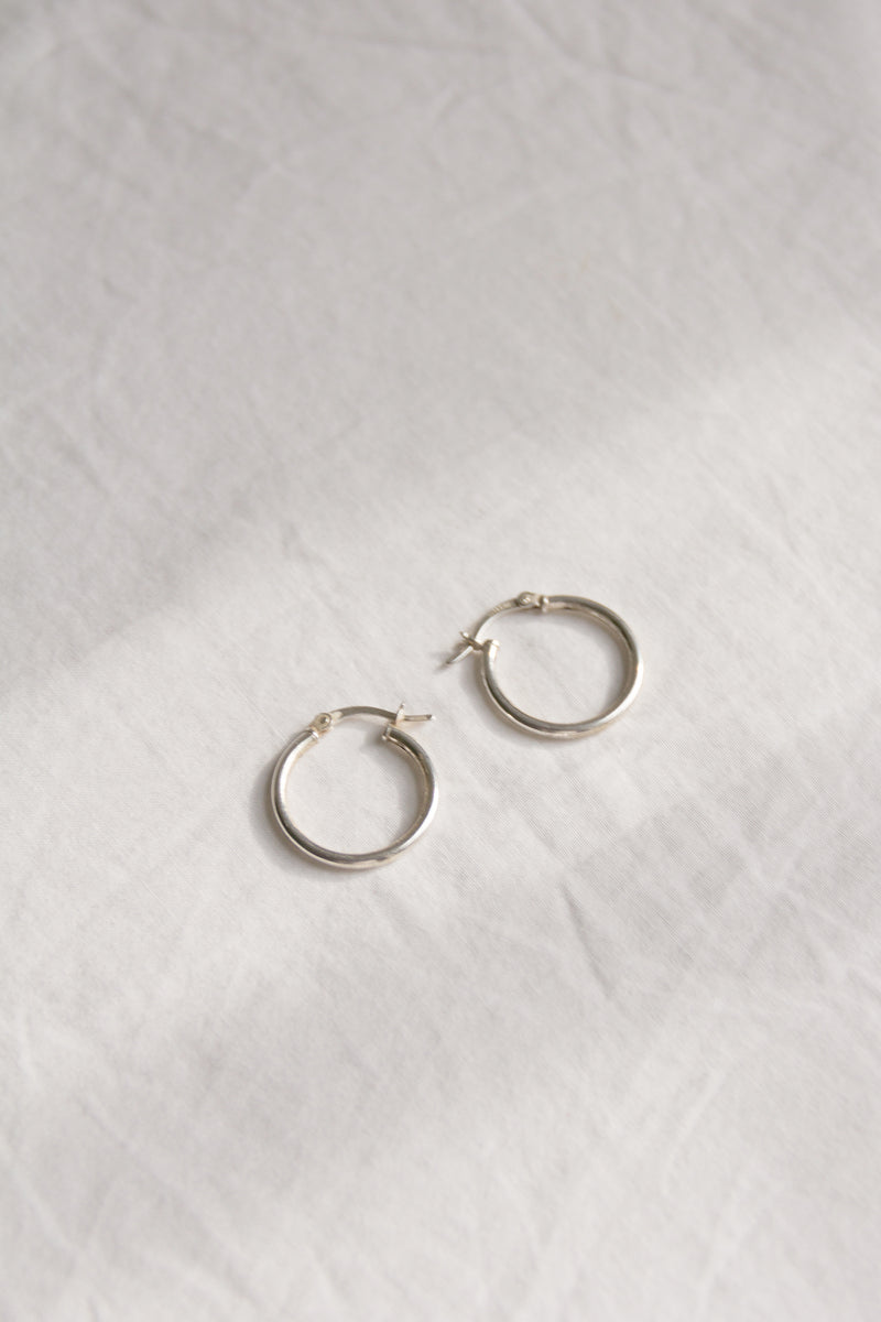 Sterling Small Classic Hoops