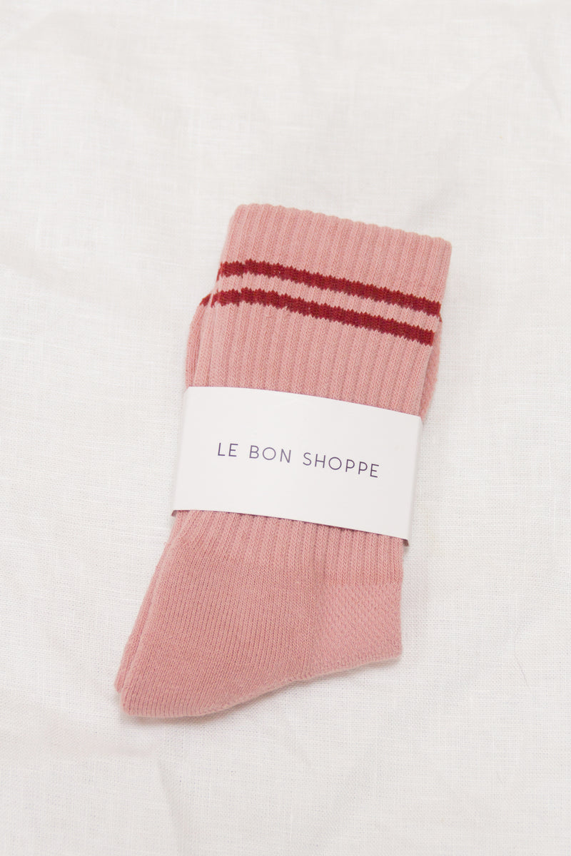 Boyfriend Socks / Blush
