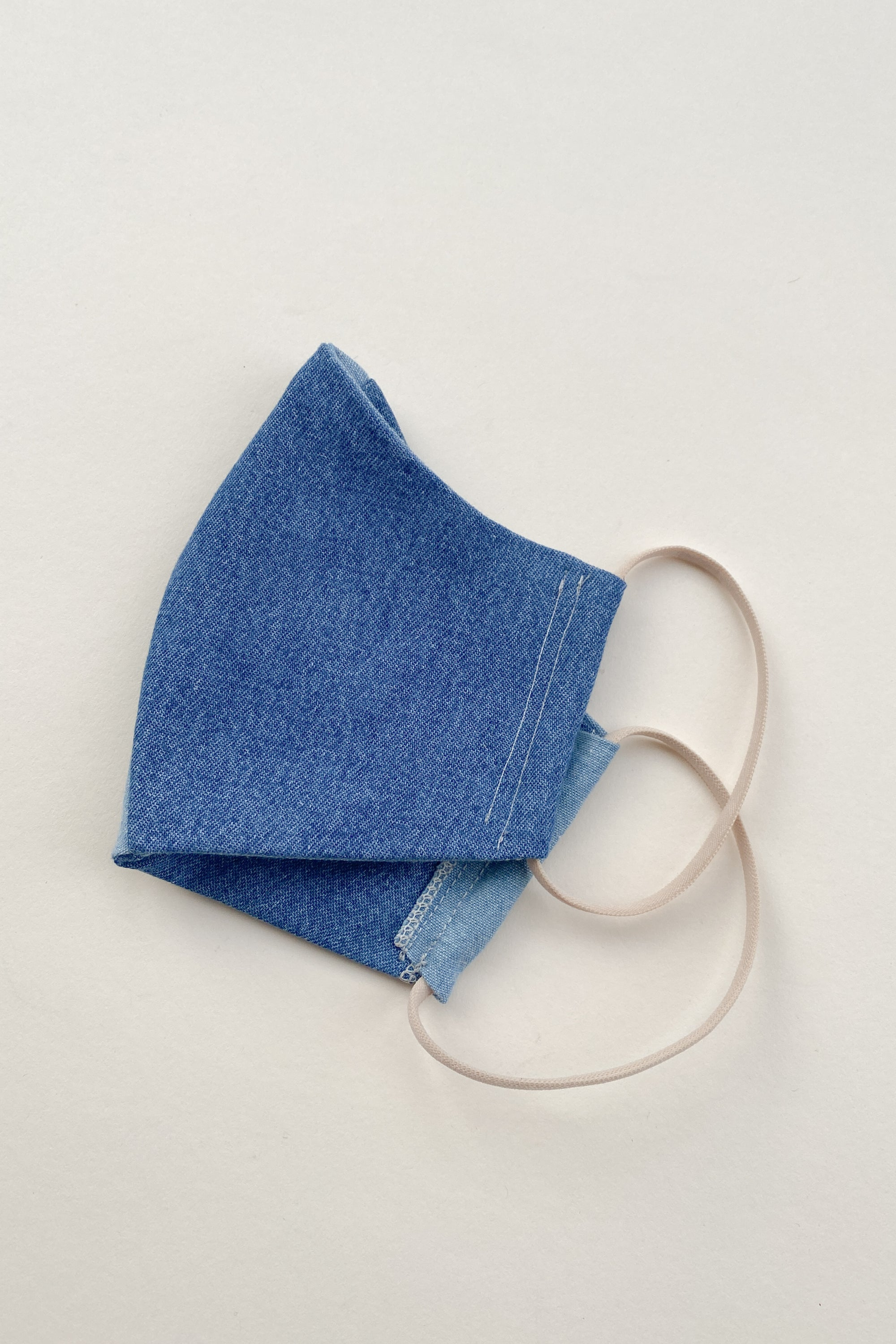 Repurposed Two-Tone Denim Mask