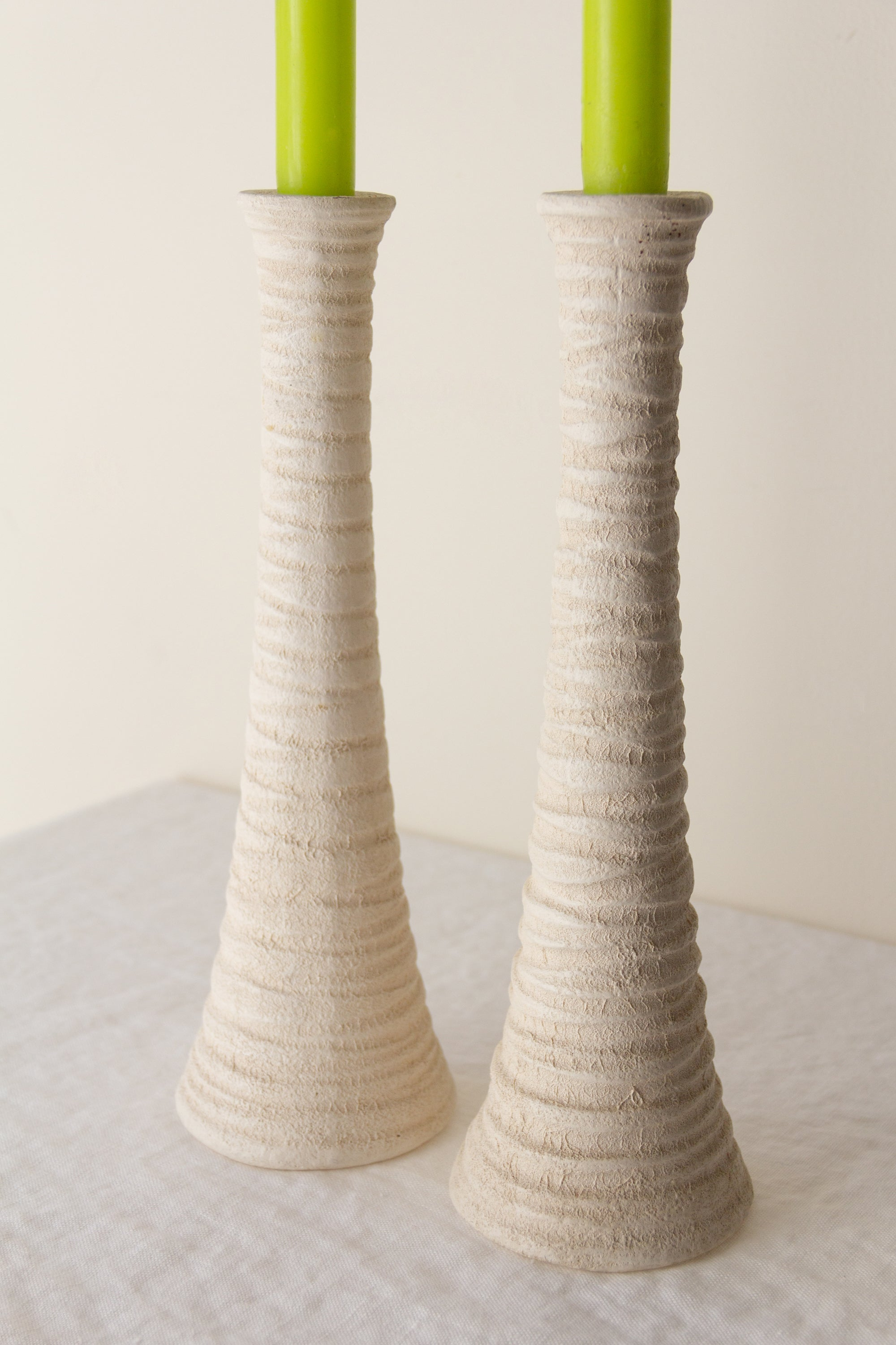 Natural Texture Ceramic Candlesticks