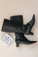 Prada Vero Cuoio Leather Boots | 40