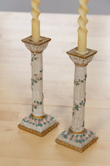 Rose Garden Column Candlesticks