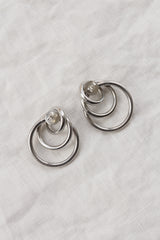 Vintage Silver Interlocked Earrings