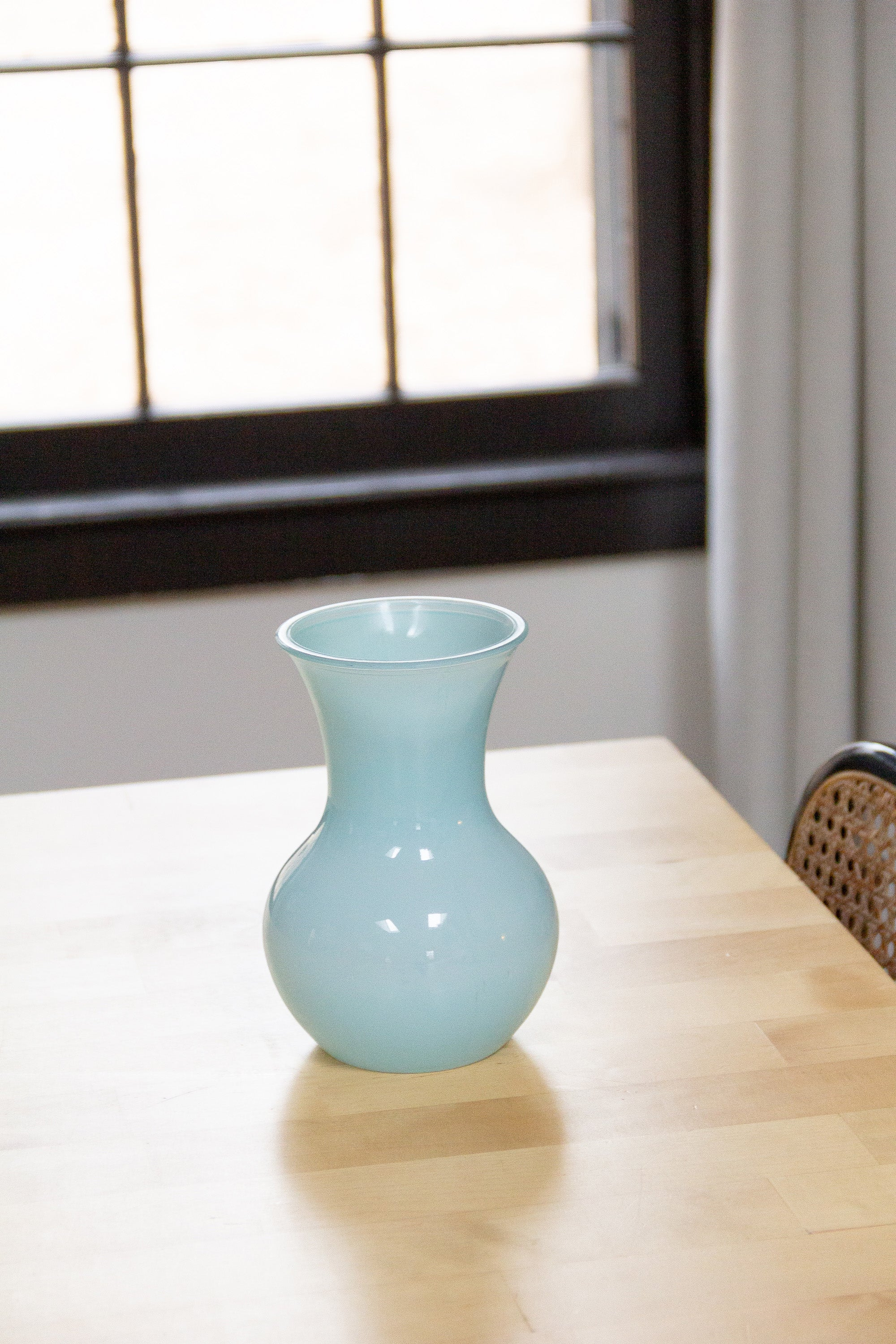 Sky Blue Glass Vase