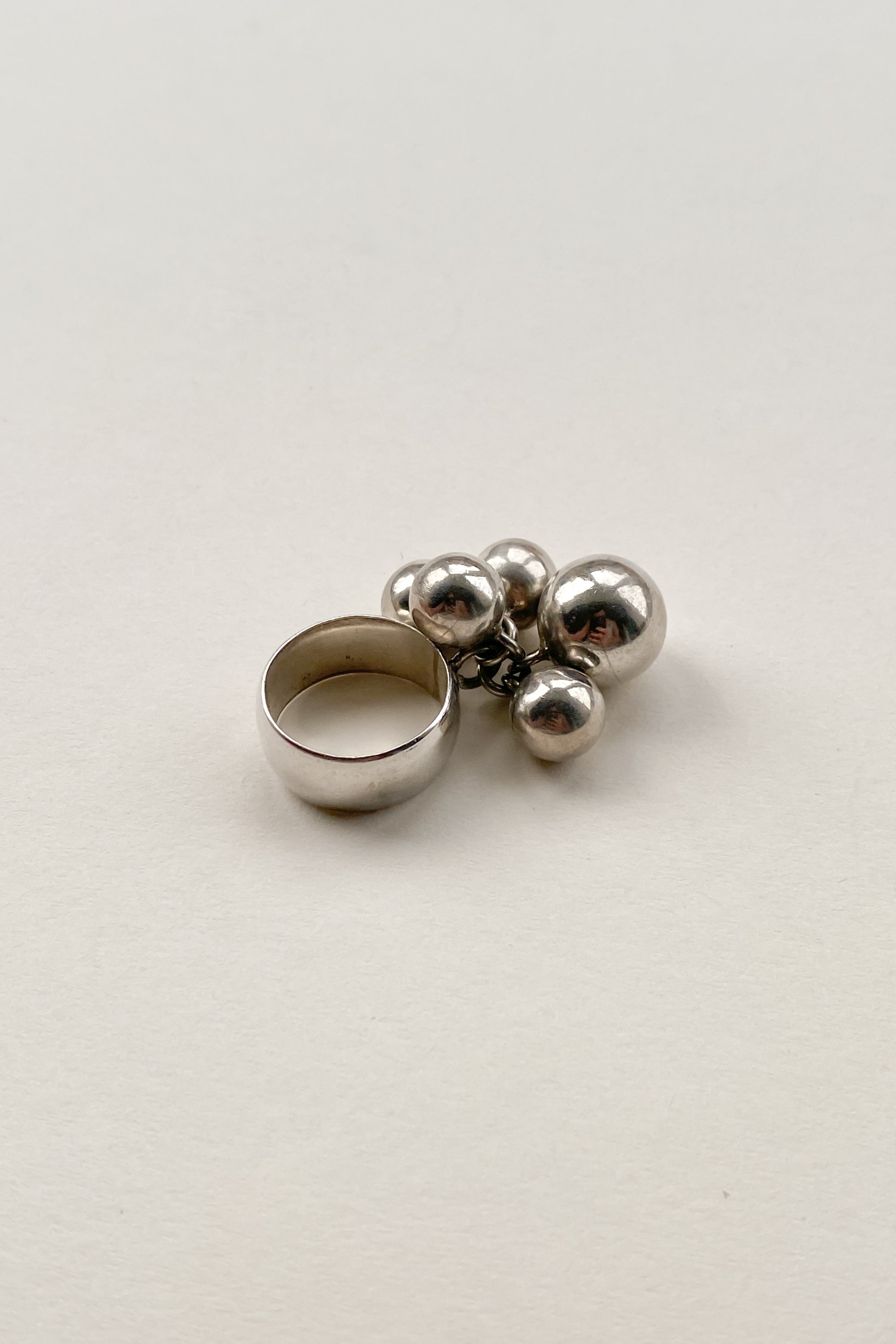 Sterling Silver Bauble Ring