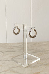 Sterling Small Rope Hoops