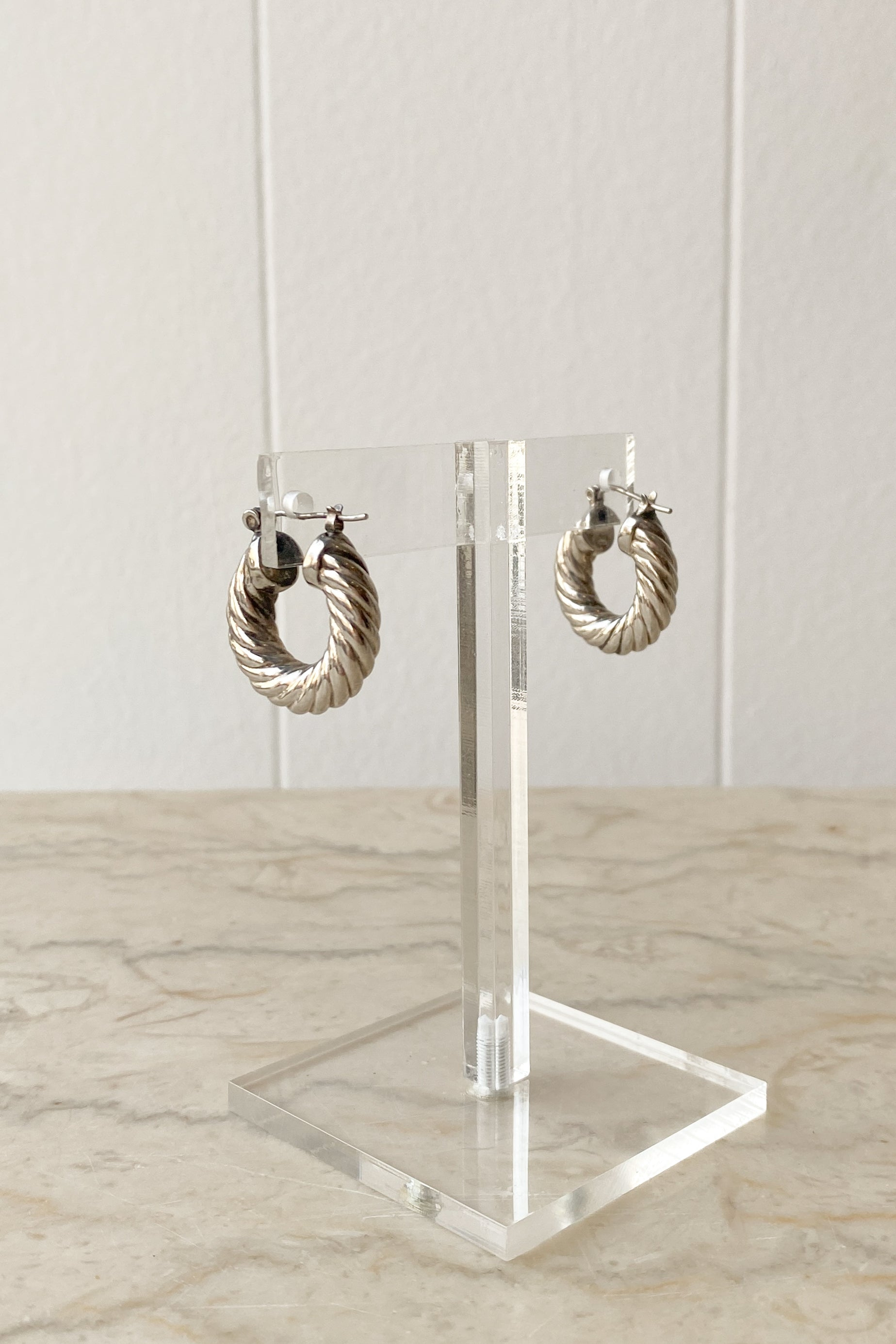 Sterling Thick Rope Hoops