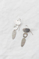 Sterling Abstract Shape Earrings
