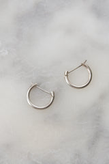 Sterling Lobe Hugger Hoops