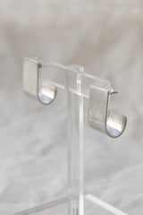 Sterling Modernist Sheath Earrings