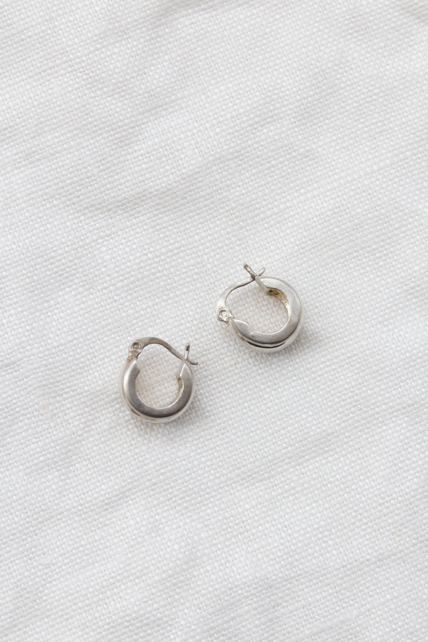 Sterling Small Thick Hoops
