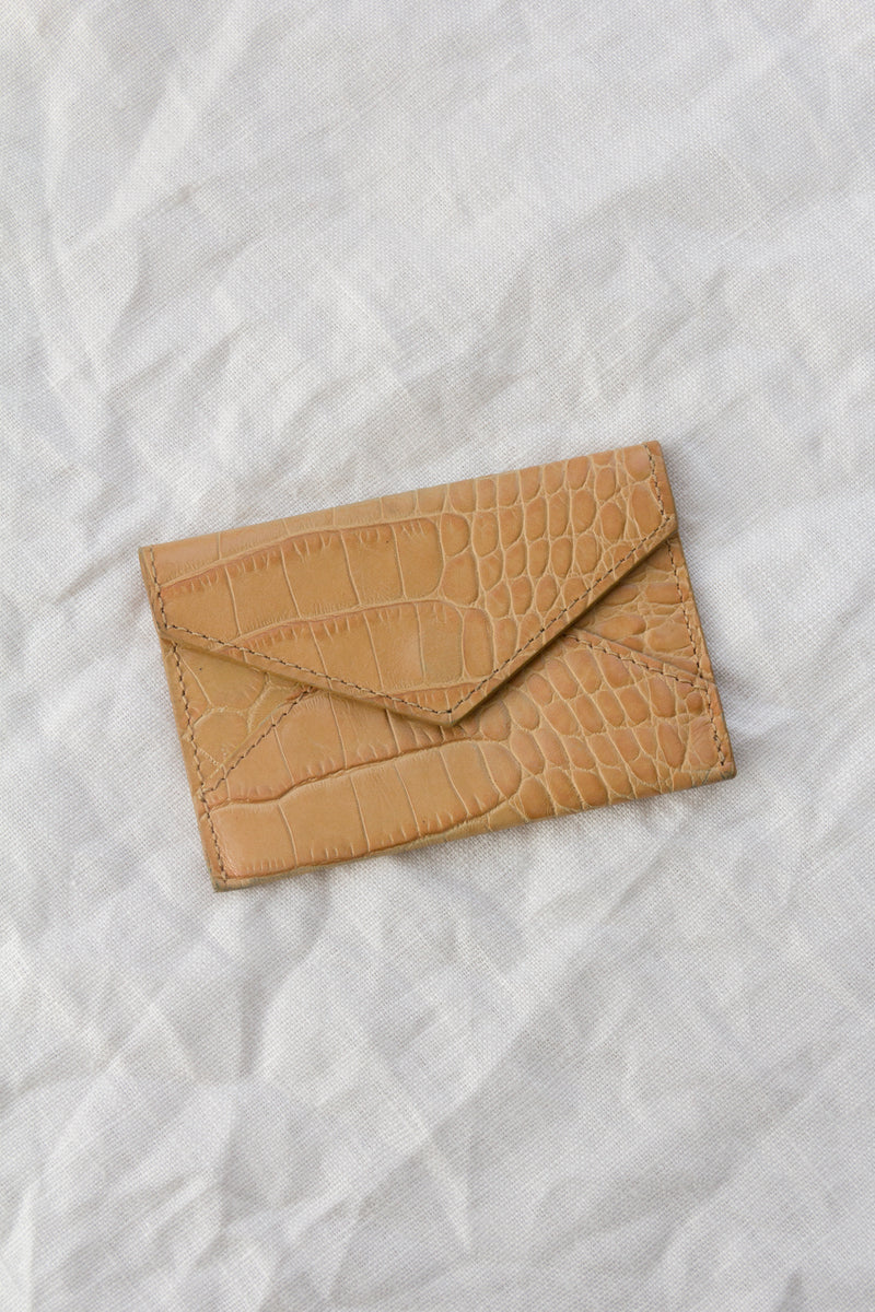 Crocodile Leather Card Envelope