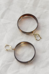 Antique Tortoise Shell Hoop Earrings