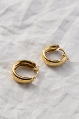 Trifari Gold Clip-On Hoops