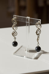 Triple Spiral Drop Earrings