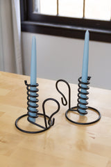 Twisty Spiral Iron Candlestick