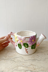 Painted Ceramic Garden Pitcher