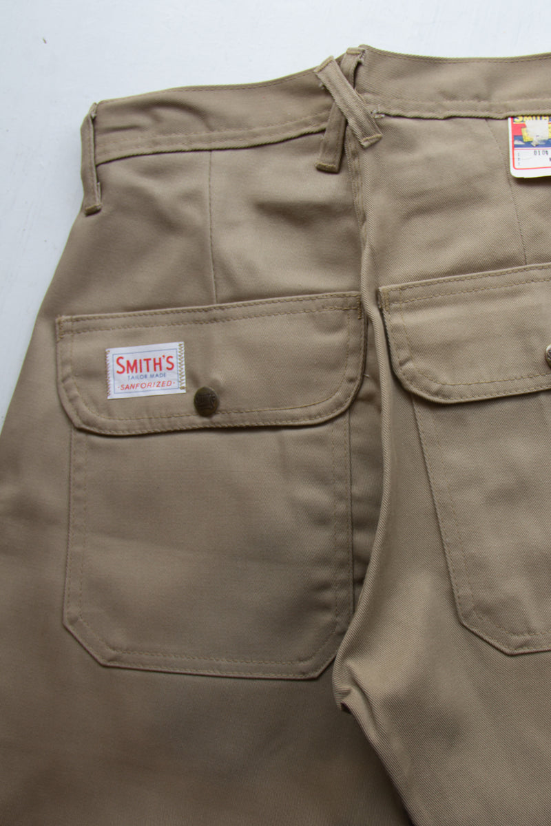 Vintage 70s Deadstock Smith Cargo Pants | Army & Khaki