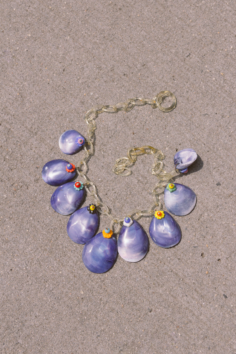 1940s Cockle Shell + Lucite Necklace